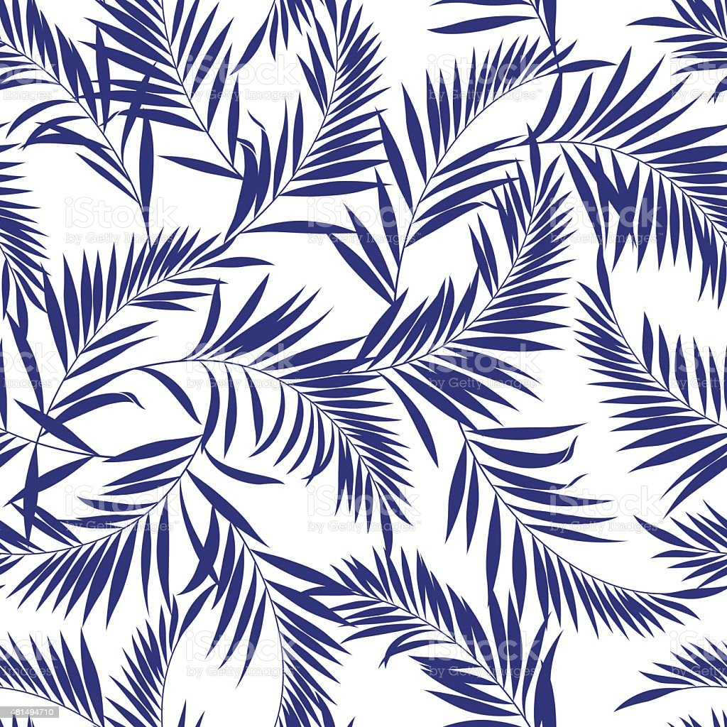 Fern pattern vector art illustration