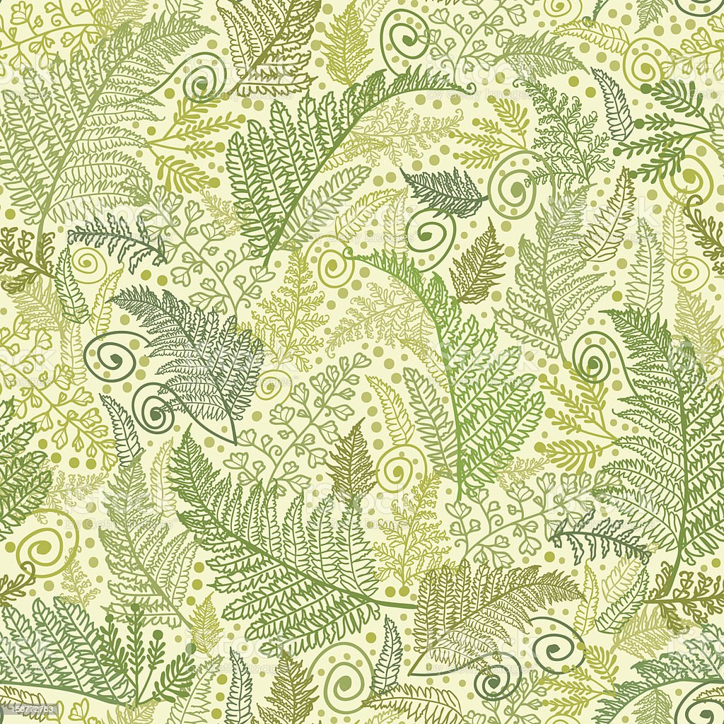 Ferns Leaves Seamless Pattern Background royalty-free stock vector art