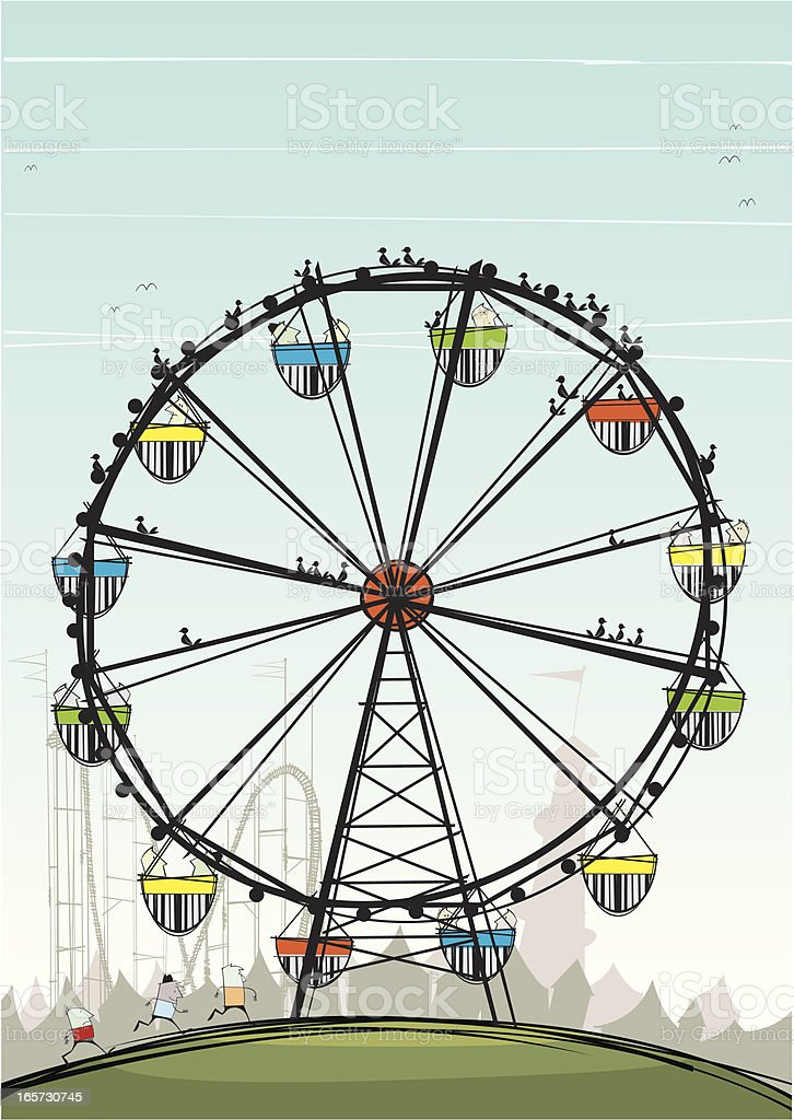 Ferris Wheel royalty-free stock vector art
