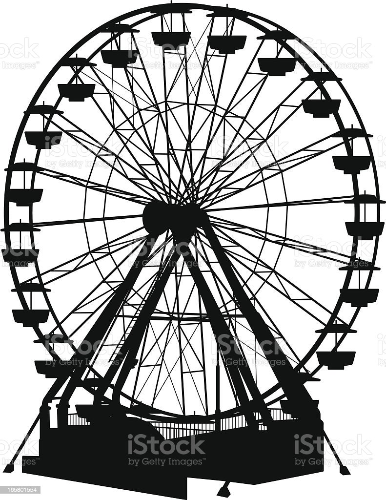 Ferris Wheel royalty-free stock vector art
