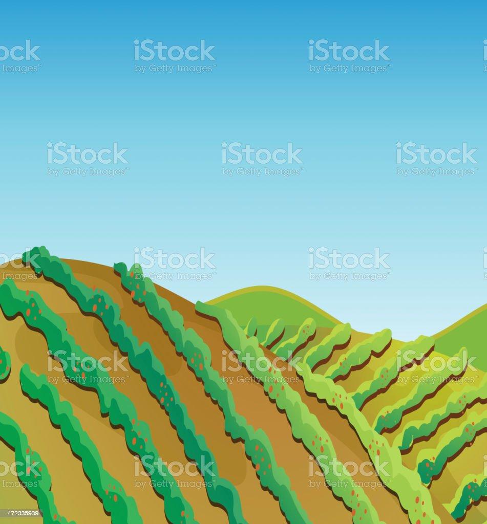 Fertile land royalty-free stock vector art