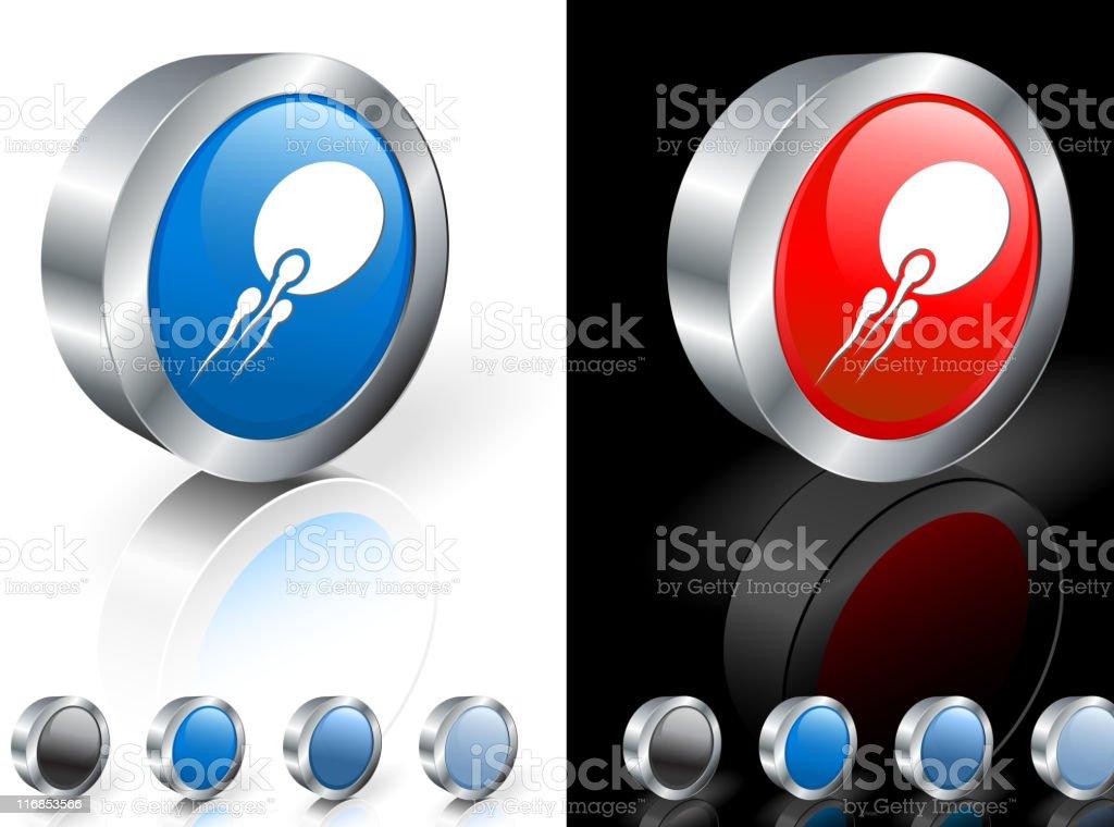 fertility  3D icon vector art illustration
