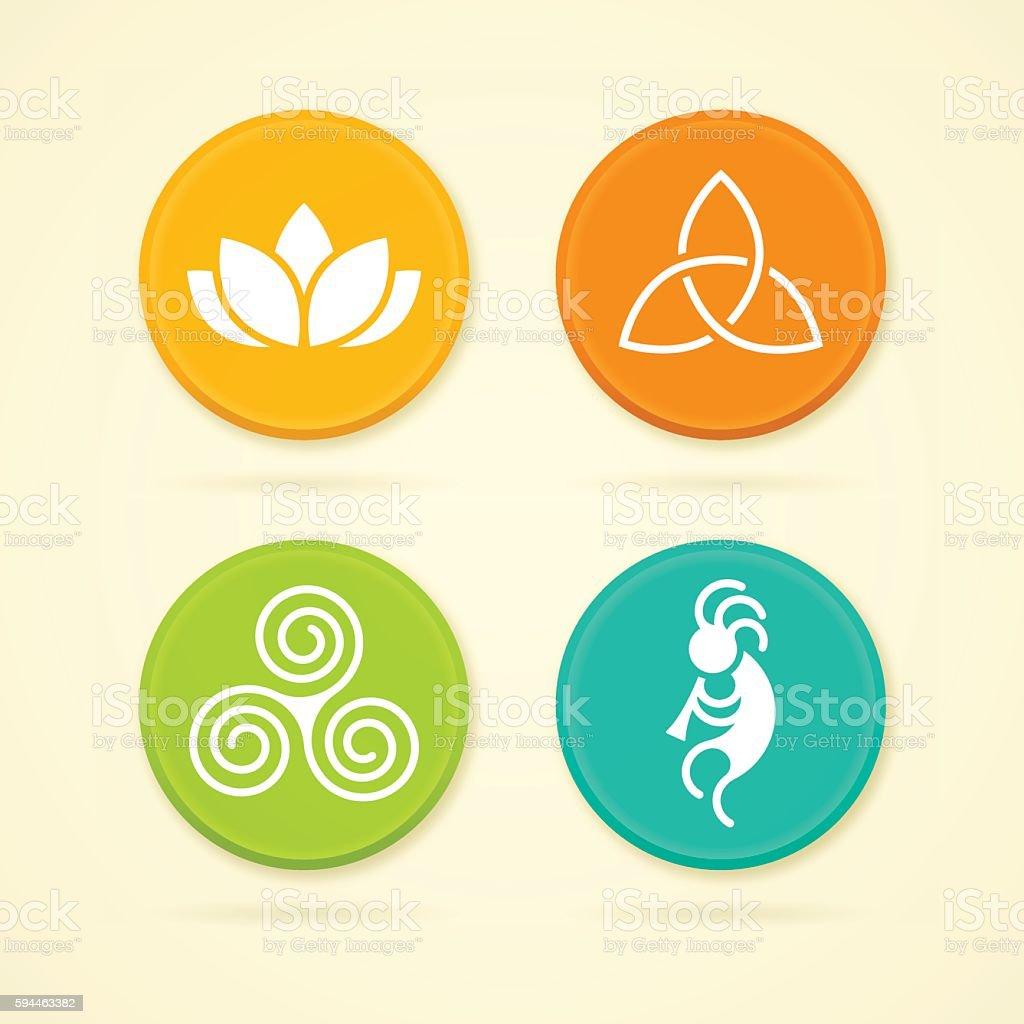 Fertility Symbols vector art illustration