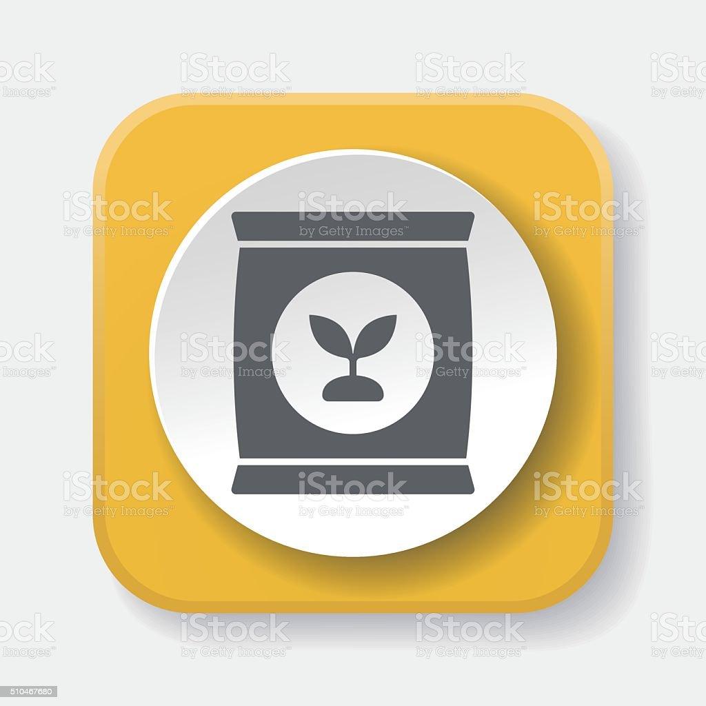 Fertilizer icon vector art illustration