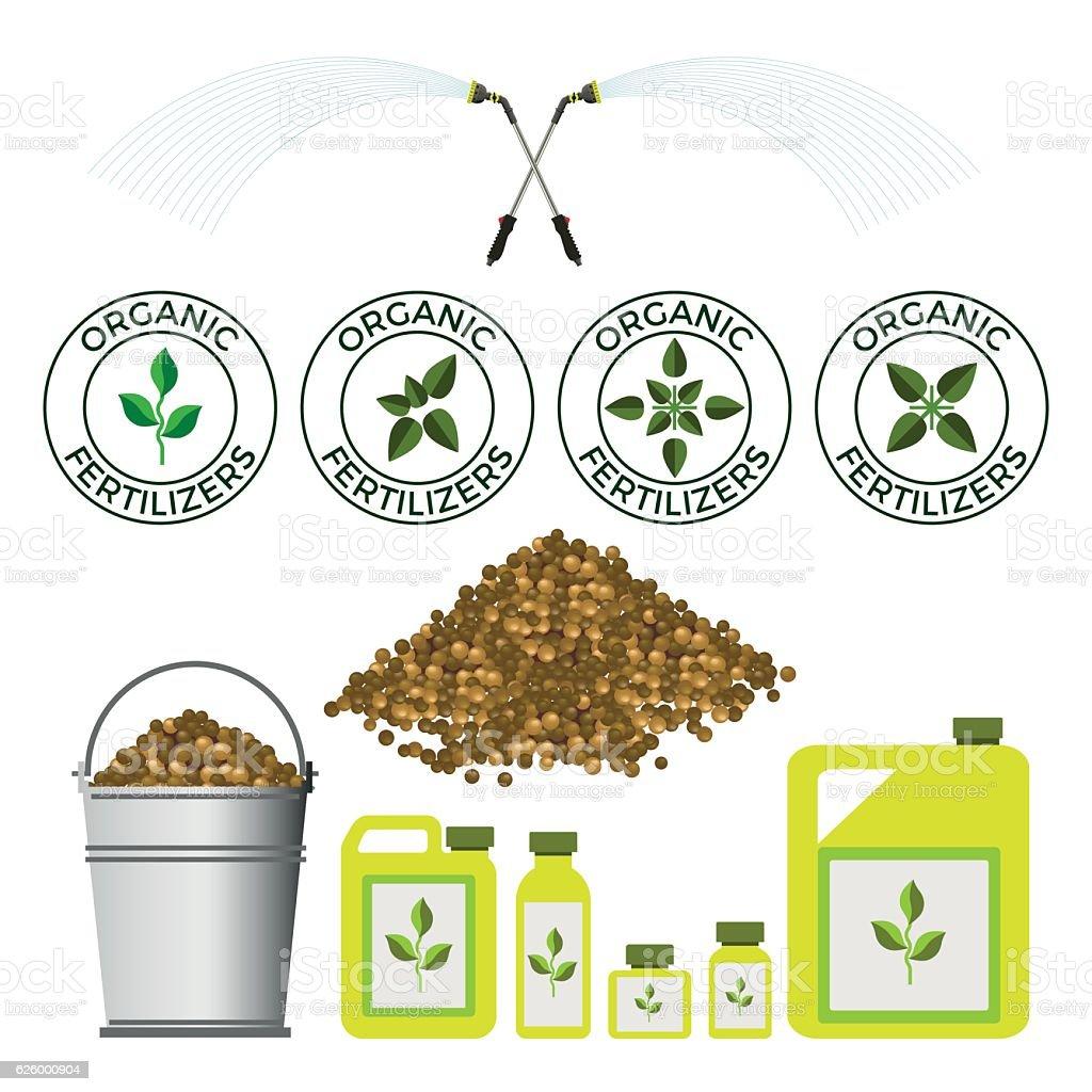 Fertilizers vector art illustration
