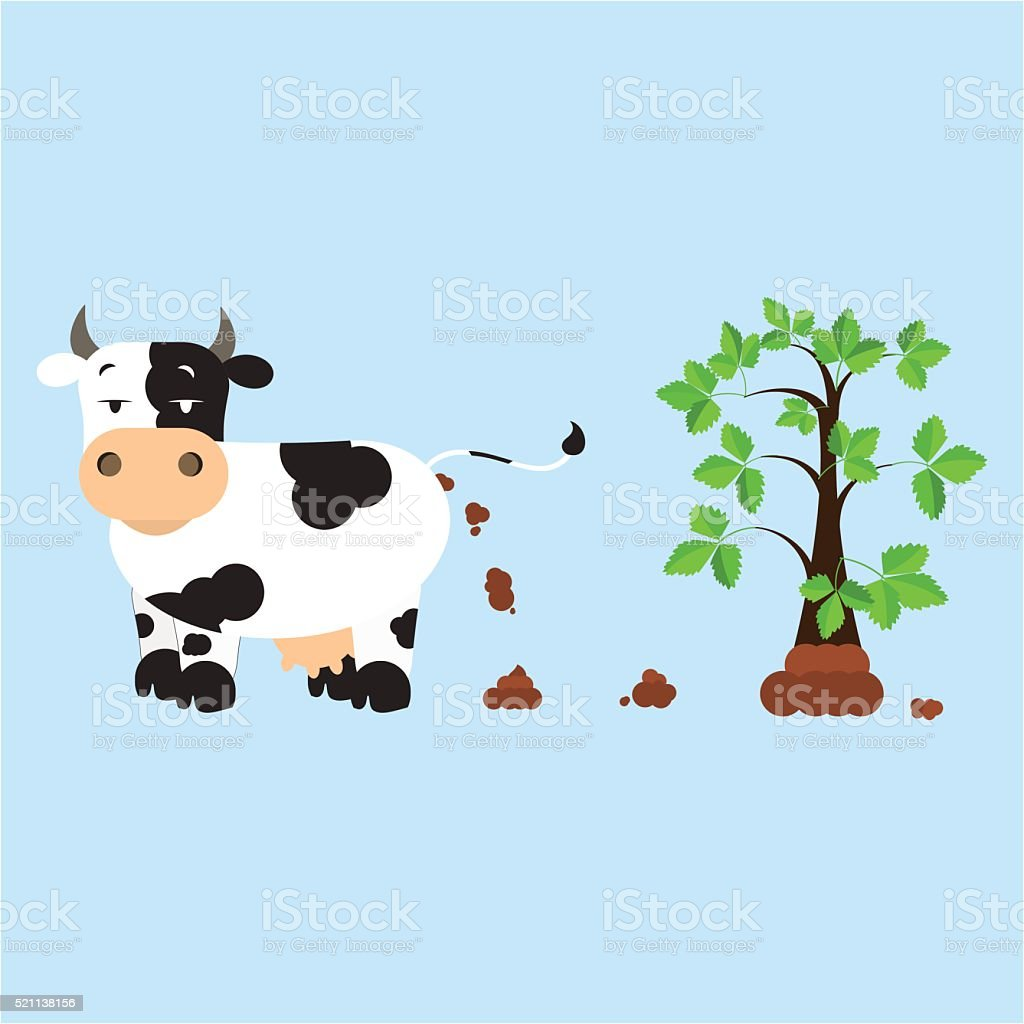 Fertilizing the land vector art illustration
