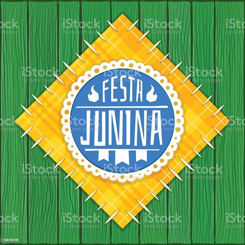 Festa Junina -  Brazilian  (June Party) Logo vector art illustration