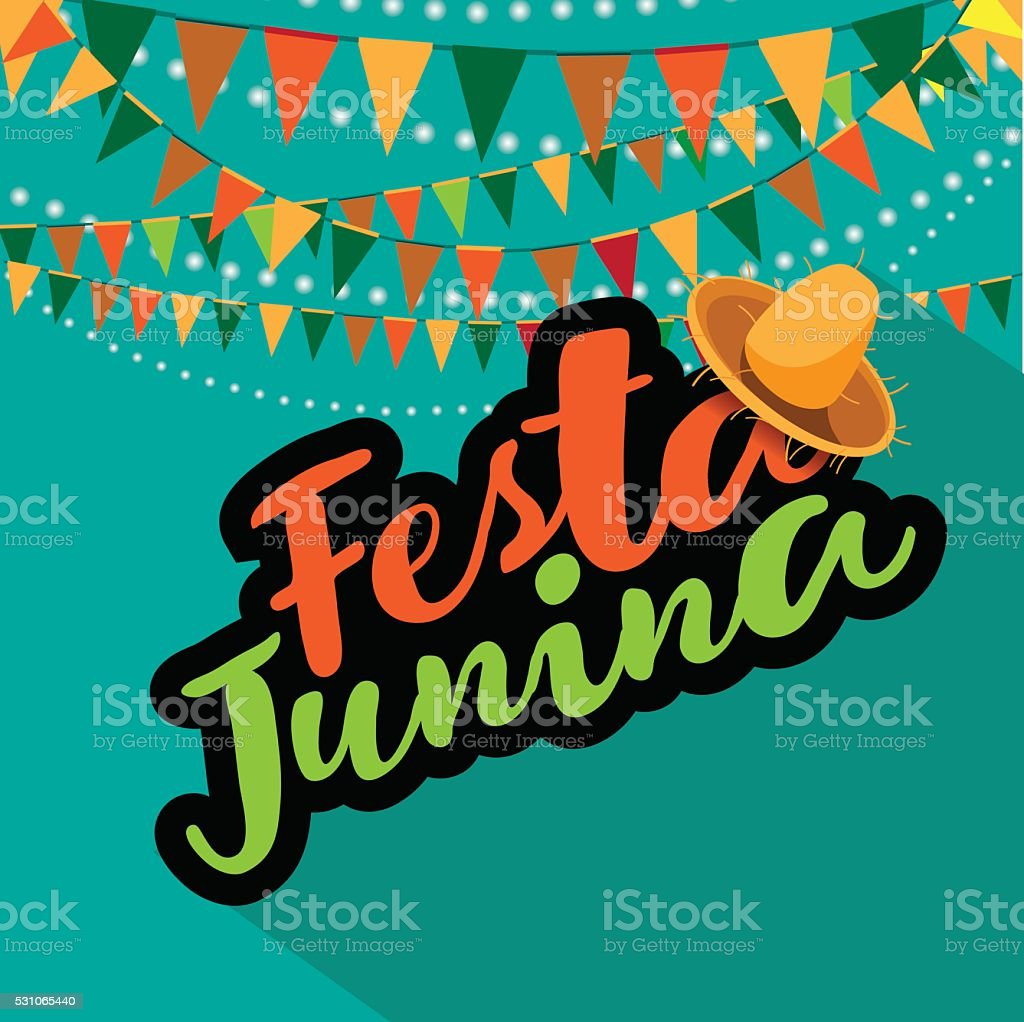 Festa Junina (June party) design. vector art illustration