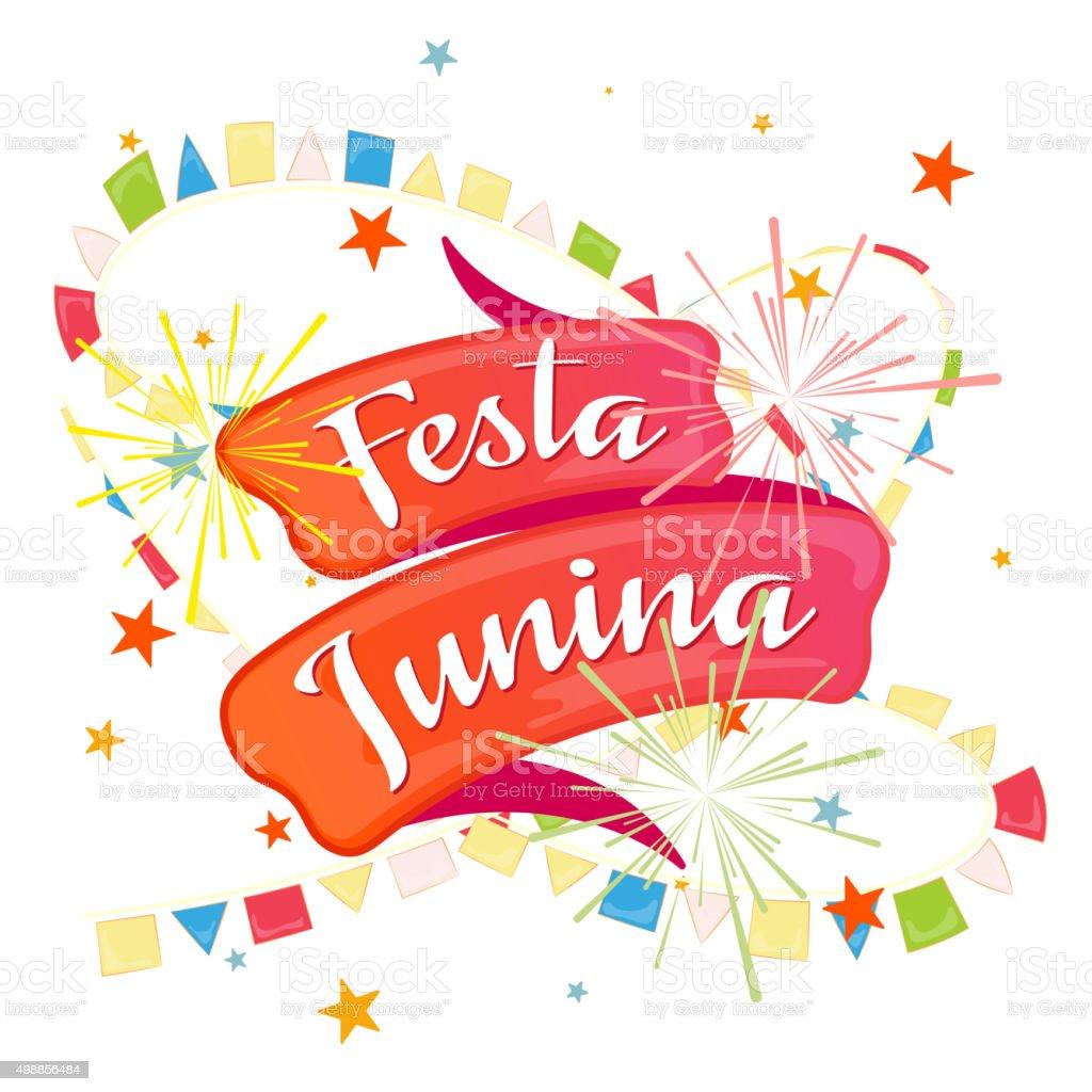 Festa Junina, festive background vector art illustration