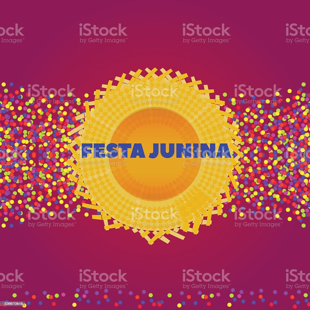 Festa Junina hat background vector art illustration