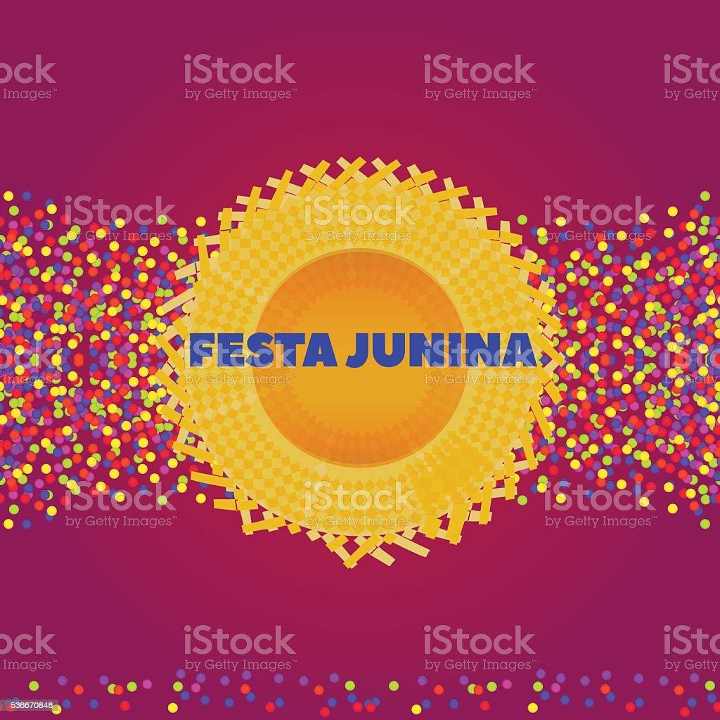 Festa Junina hat background vector art illustration