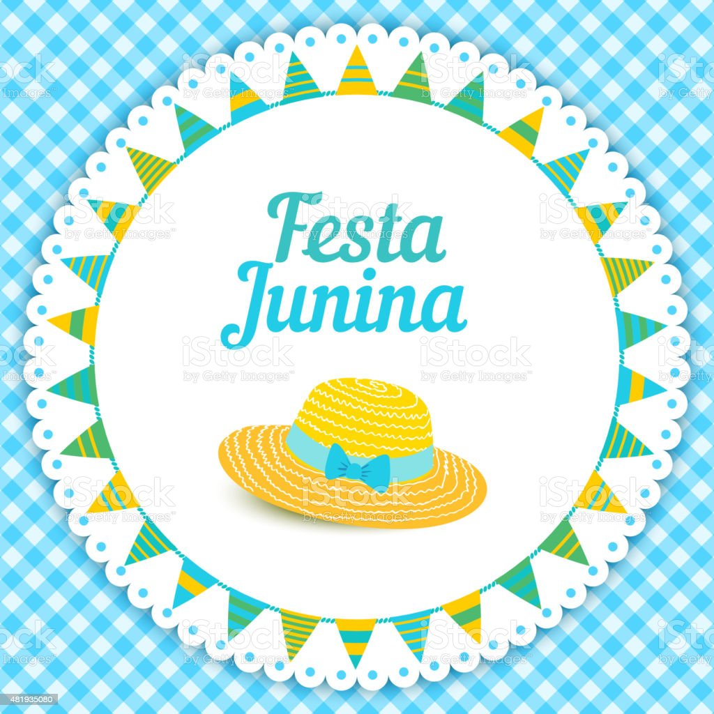 Festa Junina illustration - Brazil june festival vector art illustration