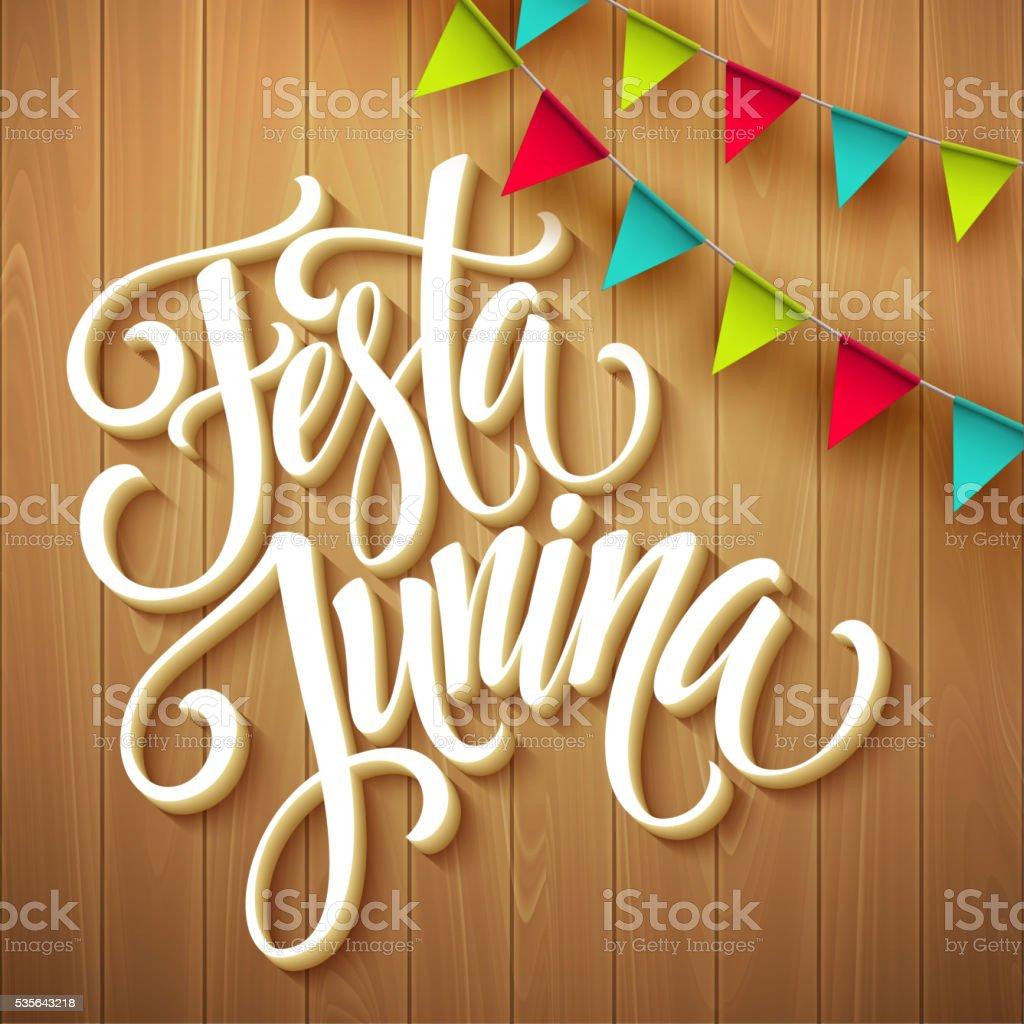 Festa Junina party greeting design. Vector illustration vector art illustration