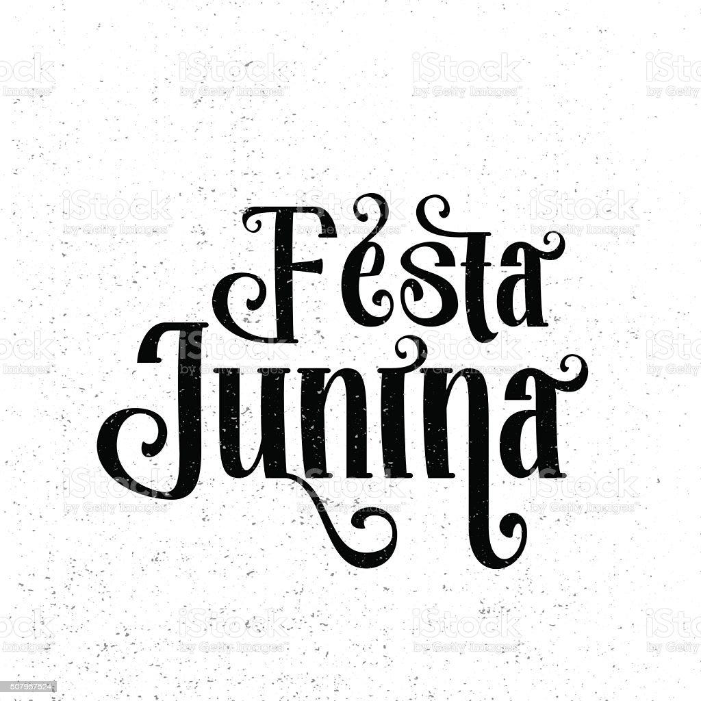 Festa Junina. Traditional Brazil June festival party - Midsummer vector art illustration