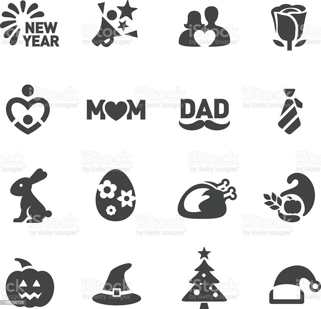 Festival Icons - Acme Series vector art illustration