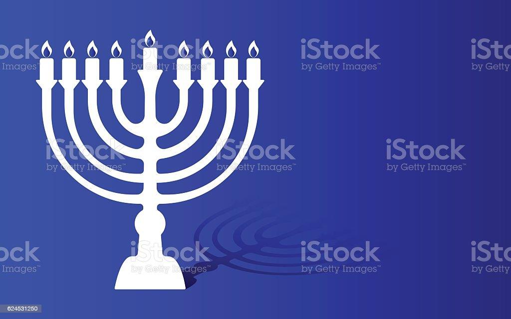 Festival of lights menorah background vector art illustration
