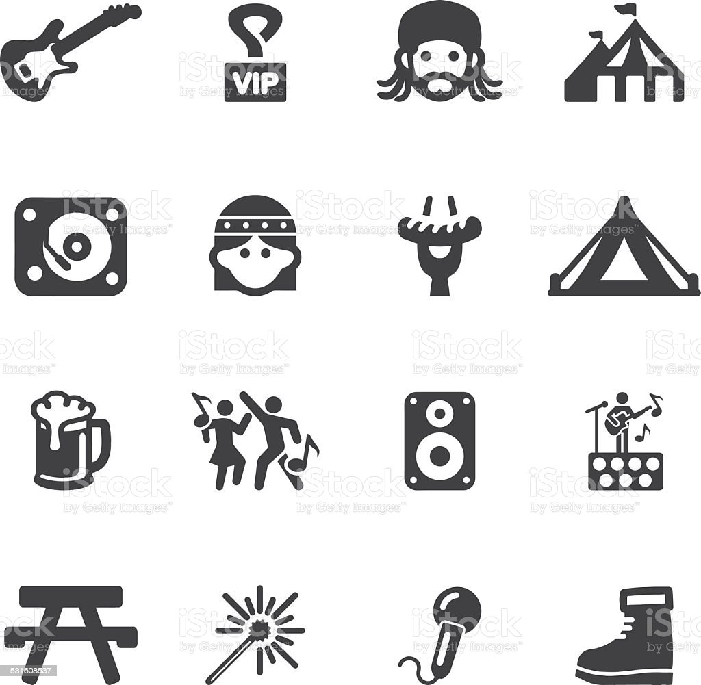 Festival Silhouette icons | EPS10 vector art illustration