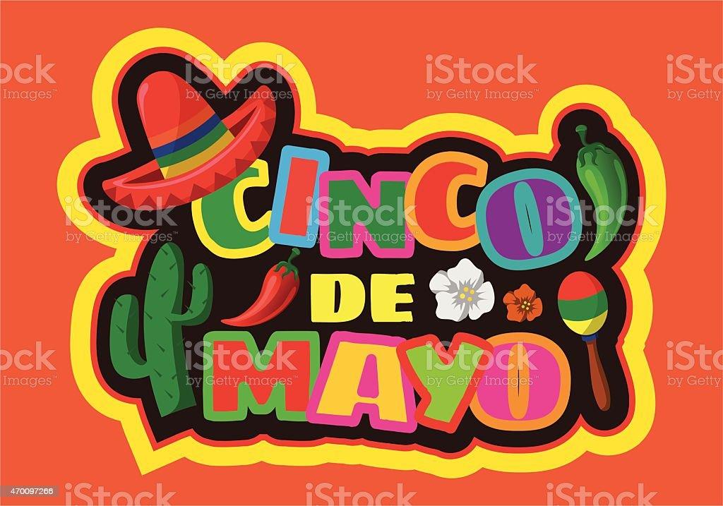 A festive and colorful Cinco de Mayo icon vector art illustration