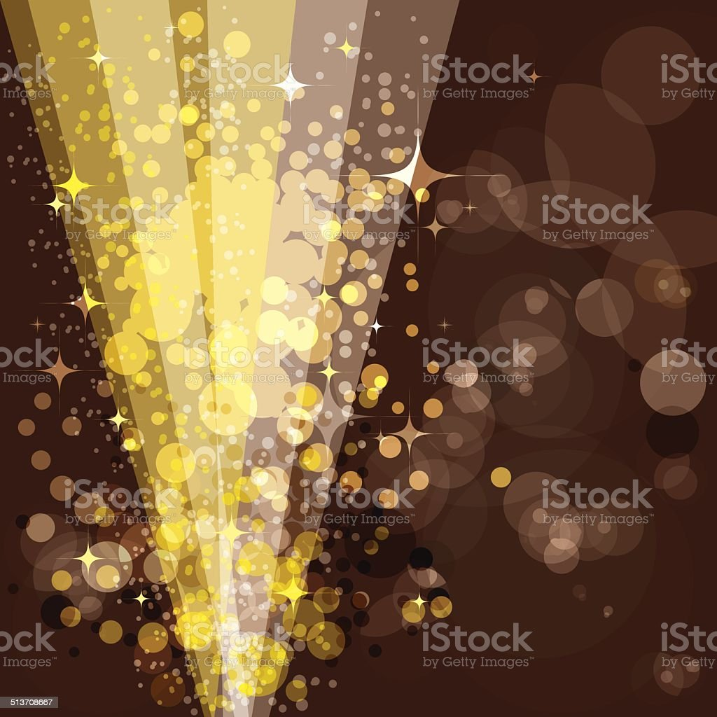 Festive background, luminous rays vector art illustration