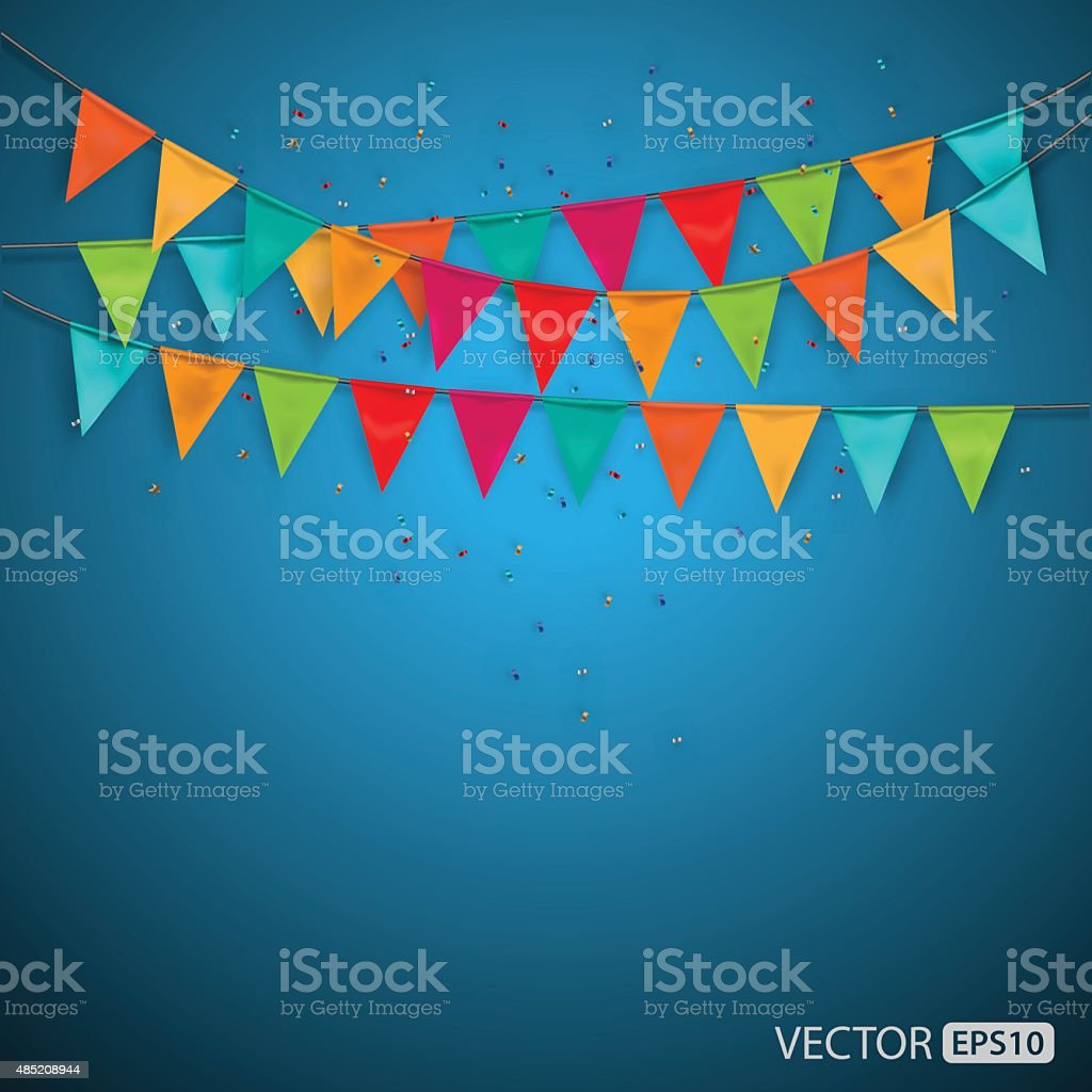 Festive background with flags,vector vector art illustration