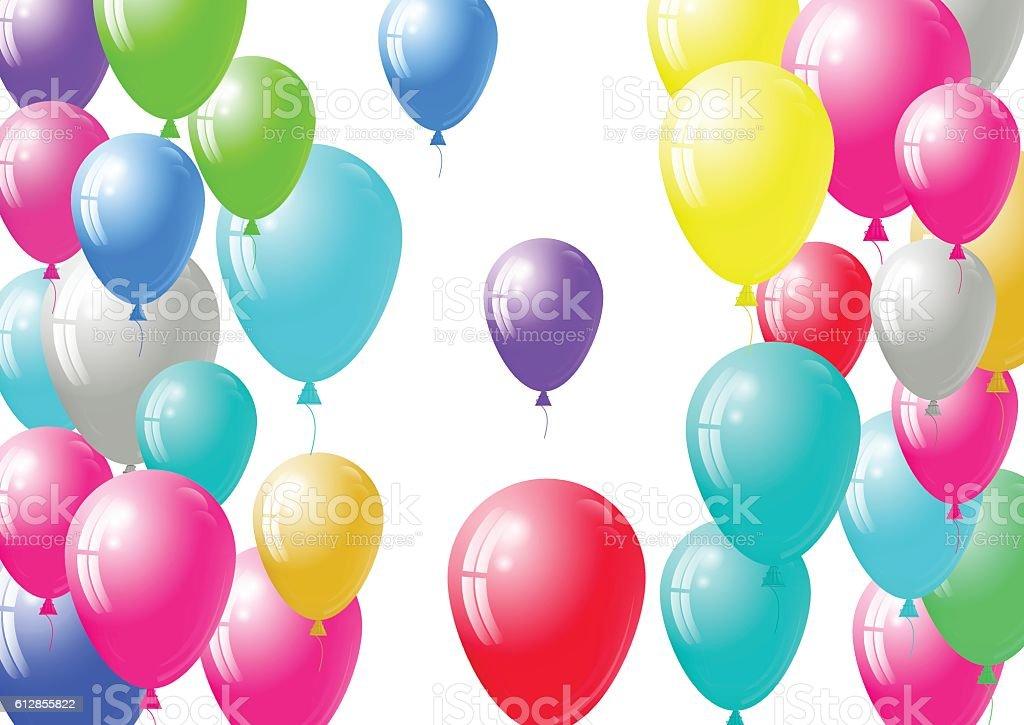 Festive balloons background vector art illustration