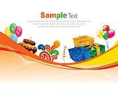 Festive banner  Stock Illustration