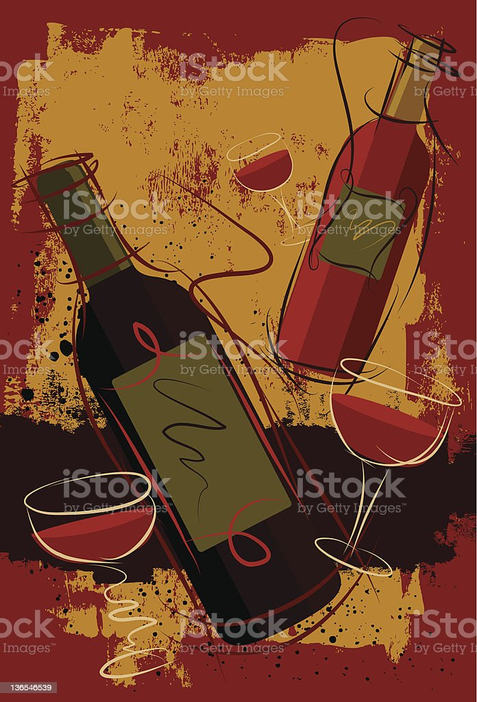festive cabernet vector art illustration