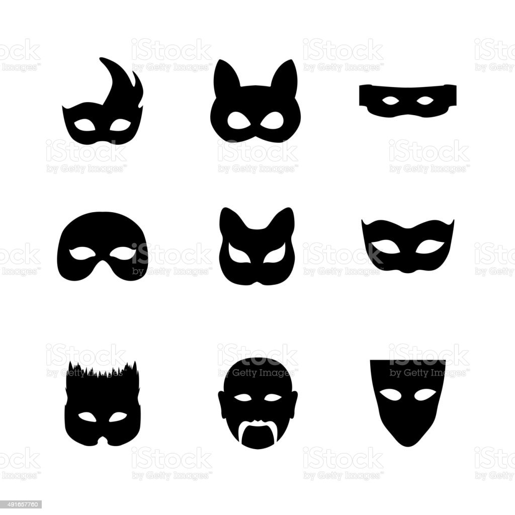 Festive carnival icons vector art illustration