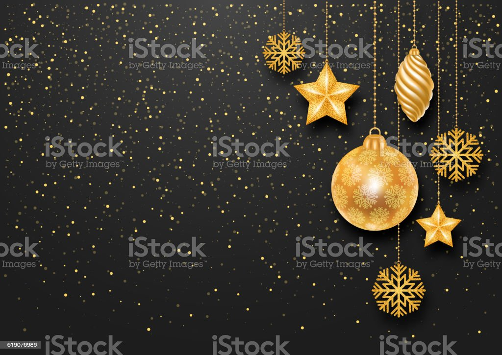 Festive Christmas Background vector art illustration