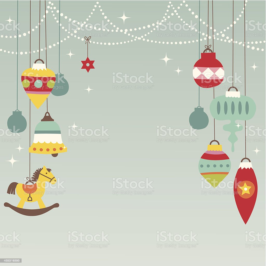 Festive Christmas baubles design royalty-free stock vector art