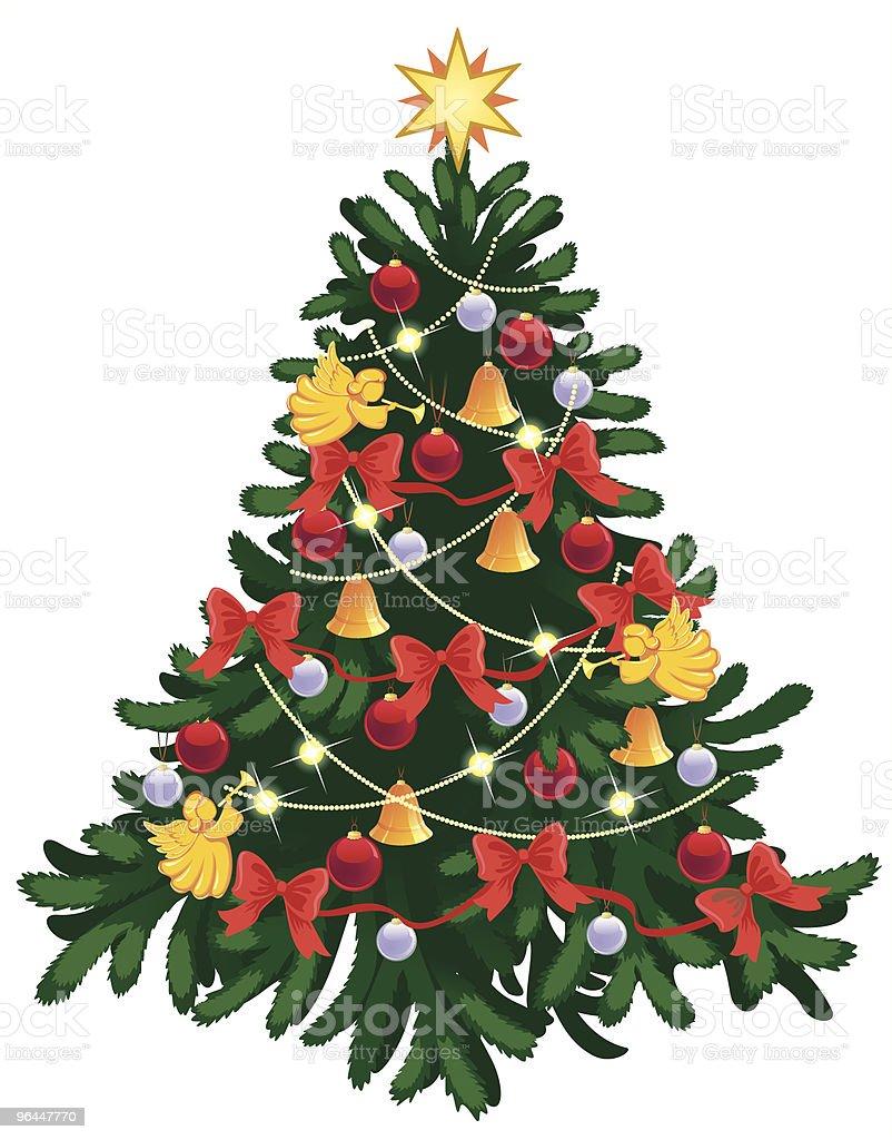 Festive christmas tree royalty-free stock vector art