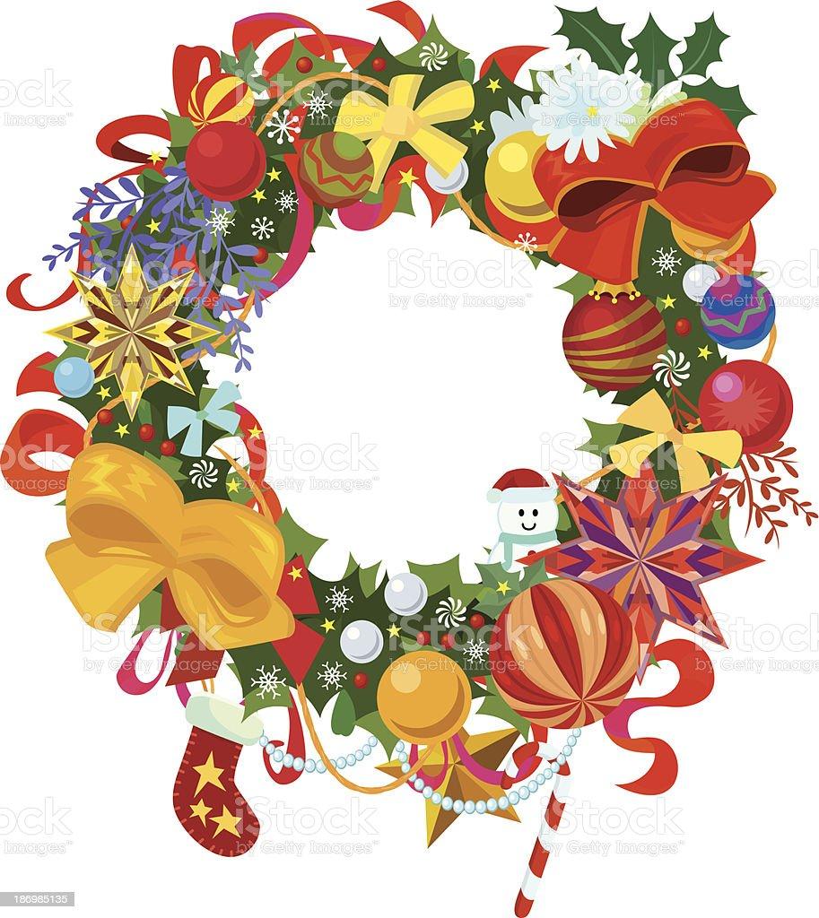 Festive Christmas Wreath royalty-free stock vector art