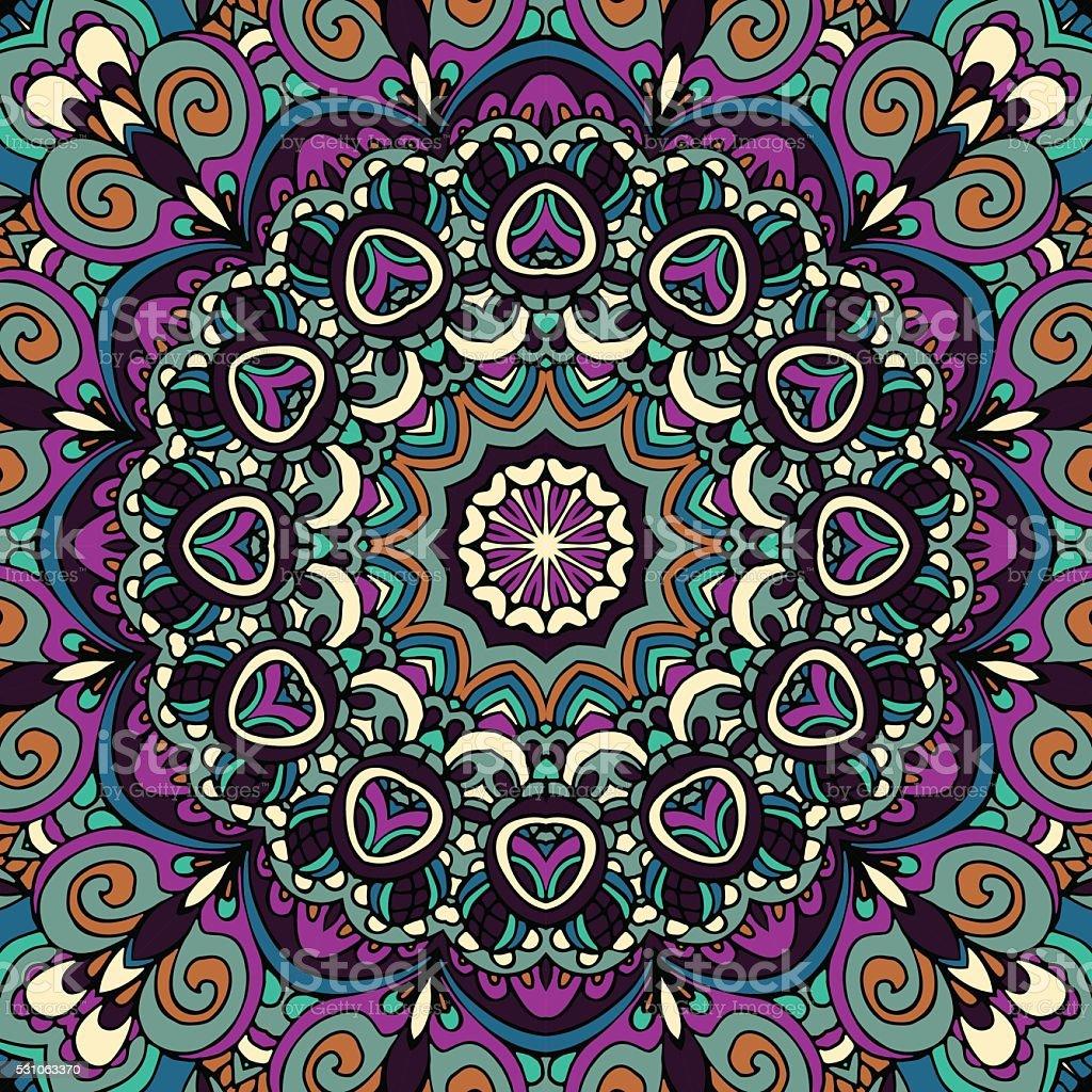 festliche bunte tribal ethno mit mandalamuster dekorative vektor illustration 531063370 istock. Black Bedroom Furniture Sets. Home Design Ideas