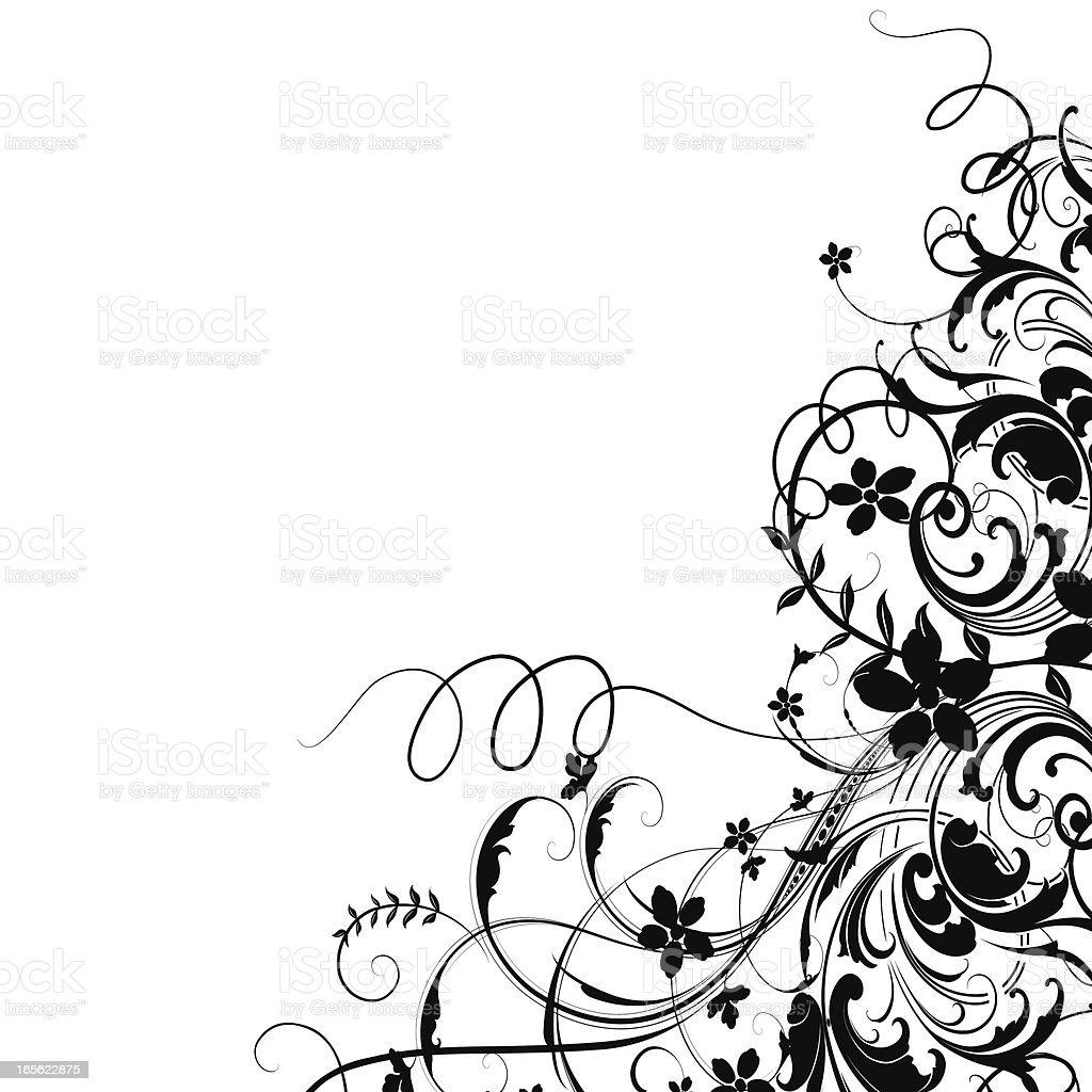 Festive Corner Scrollwork royalty-free stock vector art
