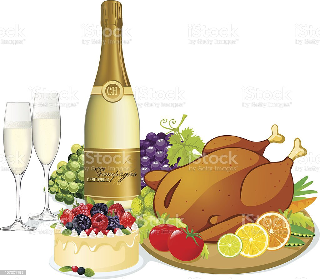 festive feast royalty-free stock photo