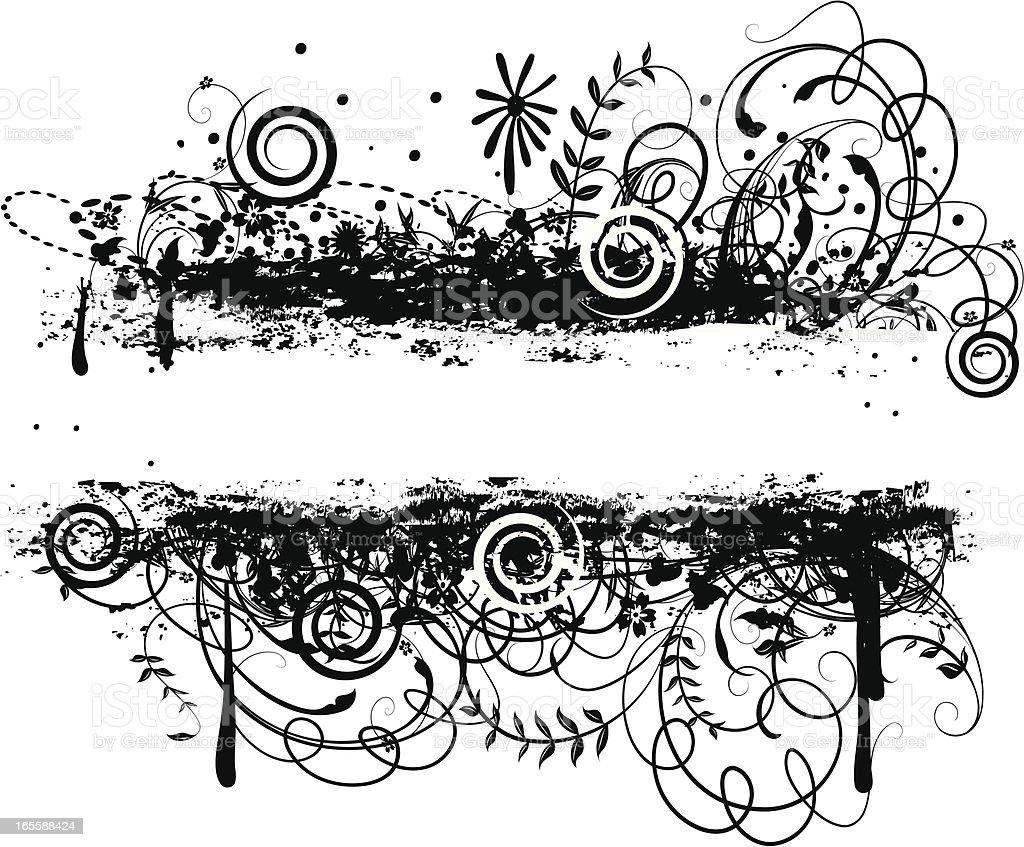 Festive Grunge vector art illustration