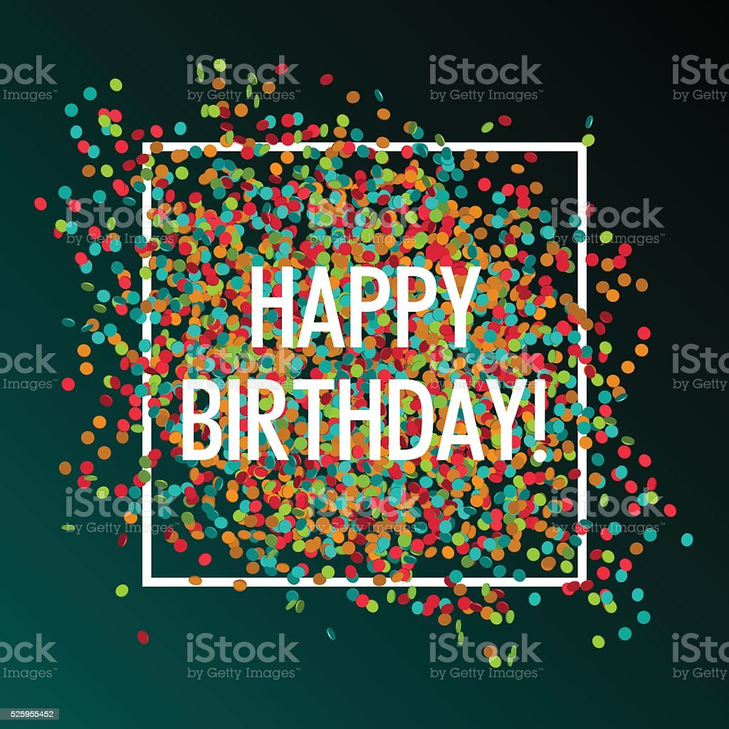 Festive happy birthday vector art illustration