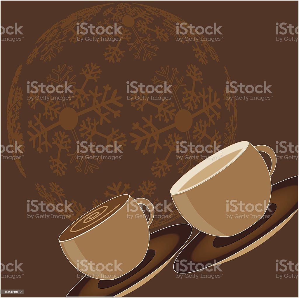Festive hot chocolate royalty-free stock vector art