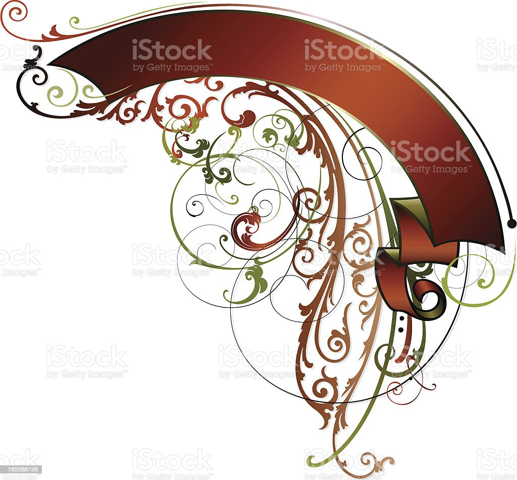 Festive Lettering Banner royalty-free stock vector art