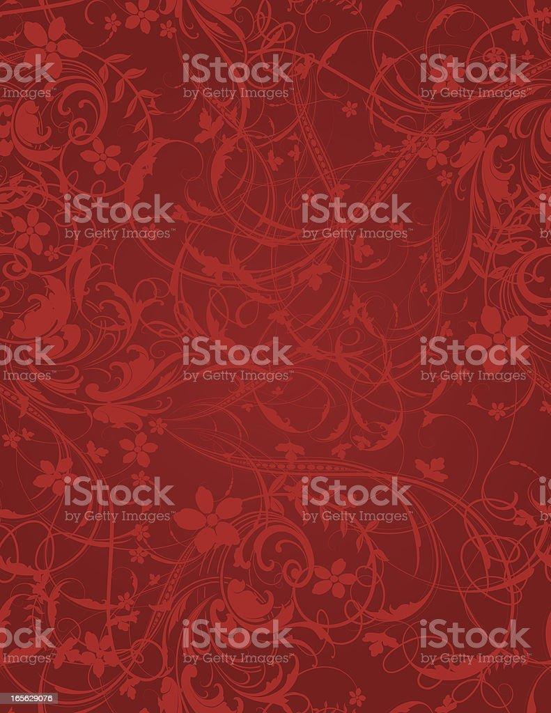 Festive Scroll Wallpaper - Seamless vector art illustration