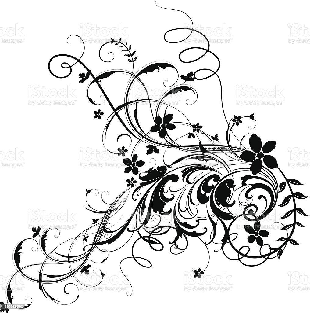 Festive Scrolling royalty-free stock vector art