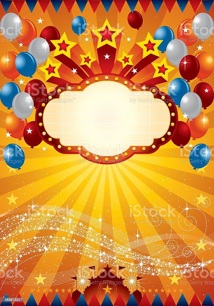 Festive Star Banner royalty-free stock vector art