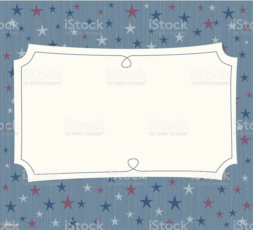 Festive stars placard royalty-free stock vector art