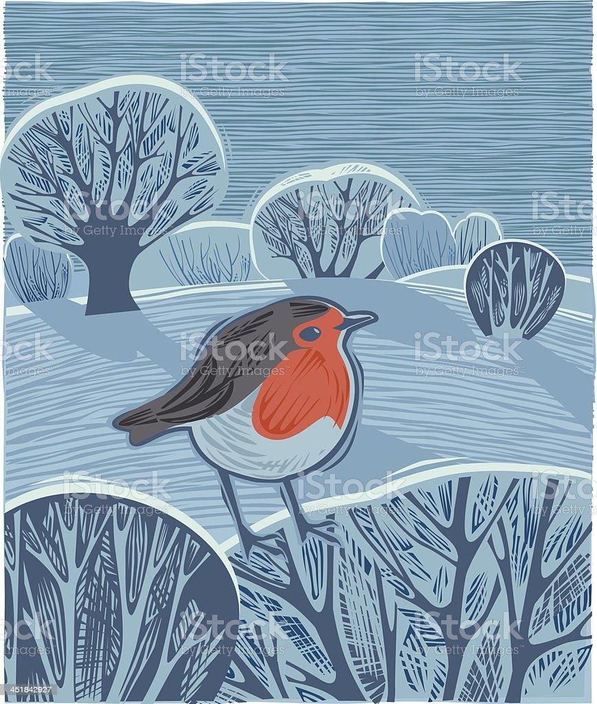 Festive Winter landscape royalty-free stock vector art