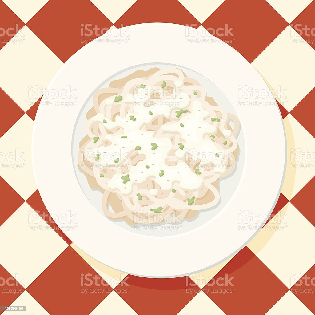 Fettuccine Alfredo royalty-free stock vector art