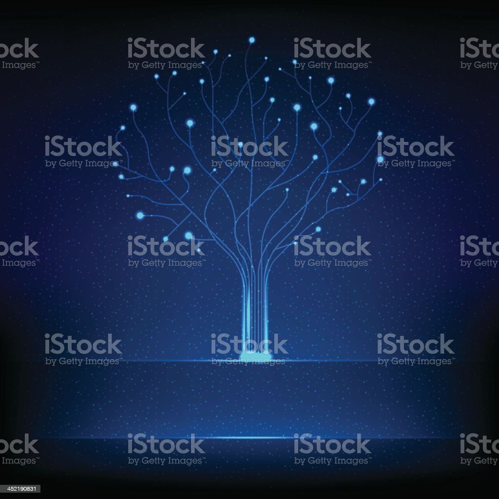 Fibre optical tree vector art illustration