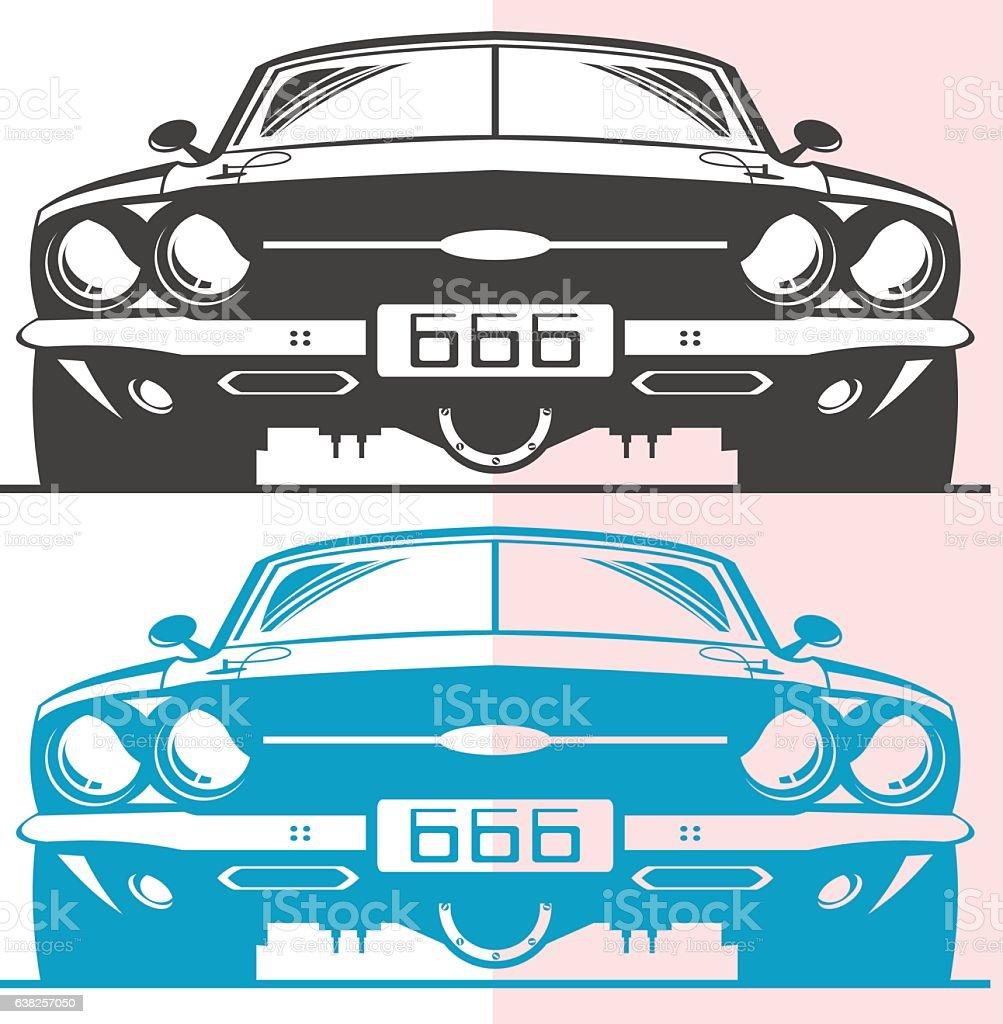 Fictitious muscle car vector art illustration