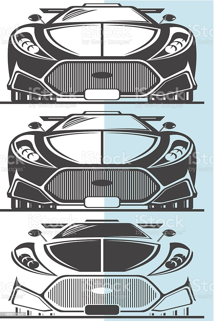 Fictitious sport car royalty-free stock vector art