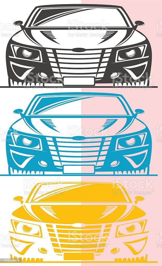Fictitious street car royalty-free stock vector art