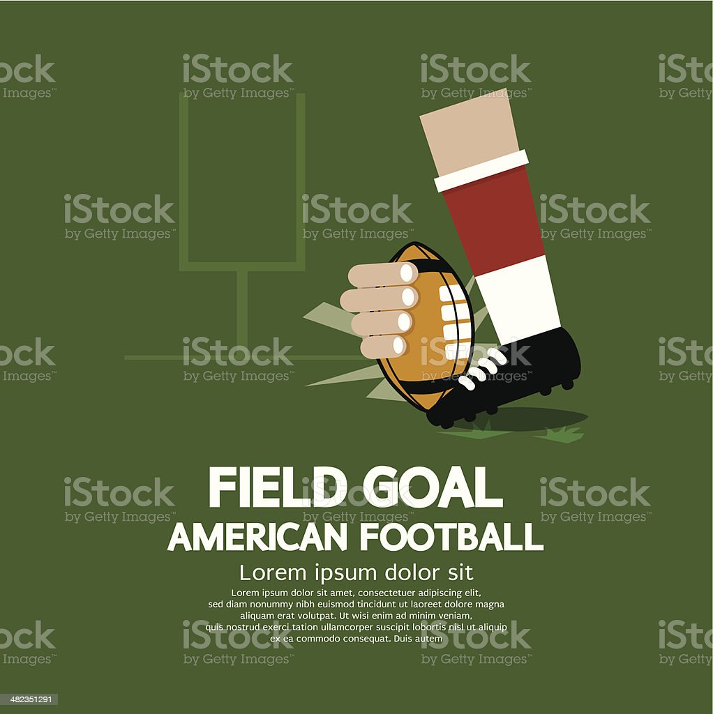 Field Goal American Football royalty-free stock vector art